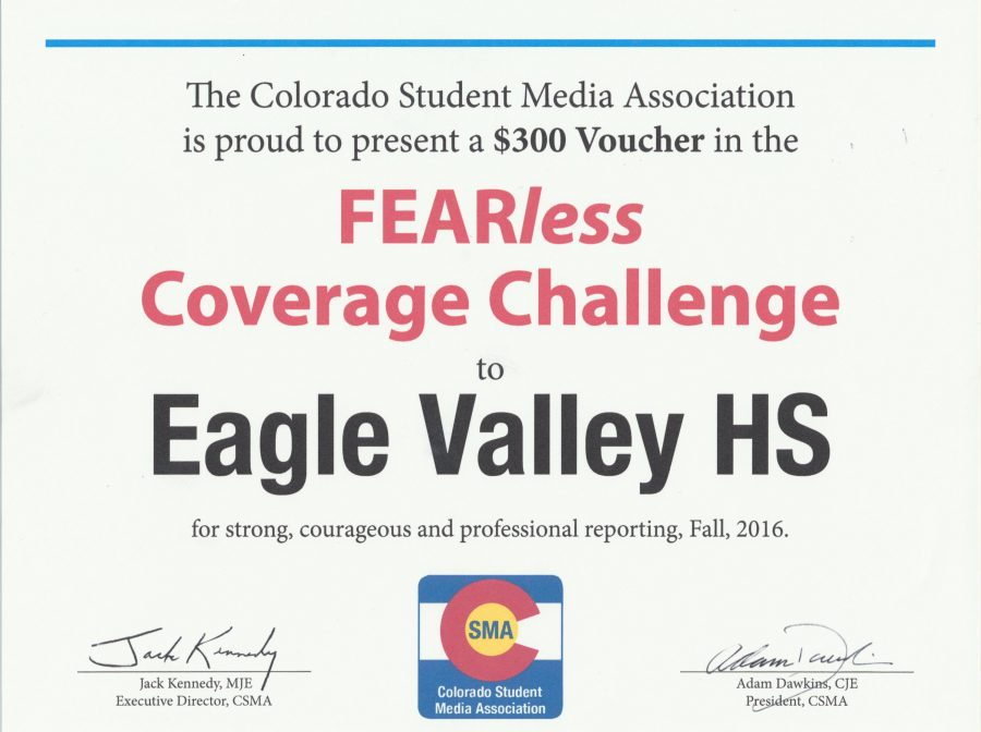 EVTV places in top 3 in FEARless reporting competition