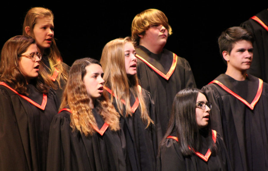 The Eagle Valley Singers is EVHS's only coed choir.