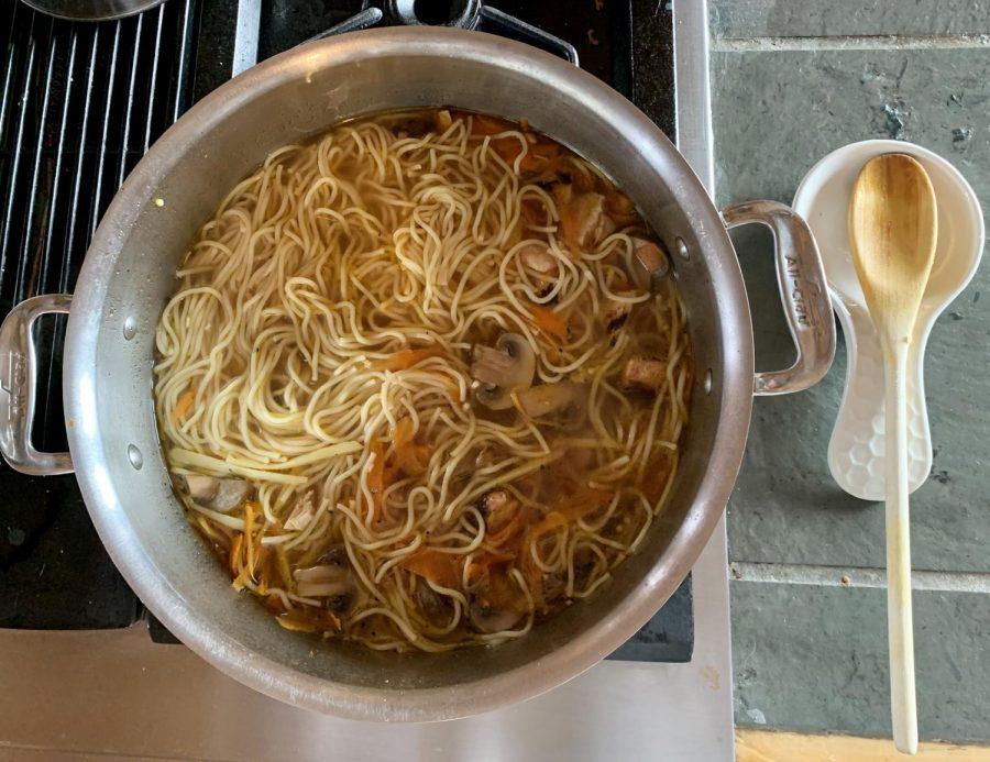 Ginger Vegetable Chicken Noodle Bowl