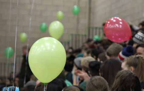 Students enjoy the festivities of the Opening Assembly.