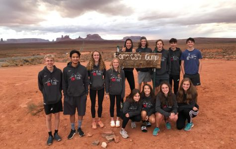 Before quarantine, the distance team had bonded early in the season. Here the distance team stops at the Forrest Gump turn around on their way to race in Utah in November.